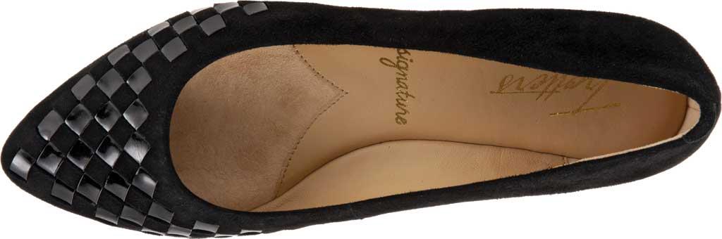 Women's Trotters Estee Woven Ballet Flat, Black Suede/Patent Leather, large, image 5