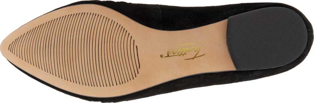 Women's Trotters Estee Woven Ballet Flat, Black Suede/Patent Leather, large, image 6