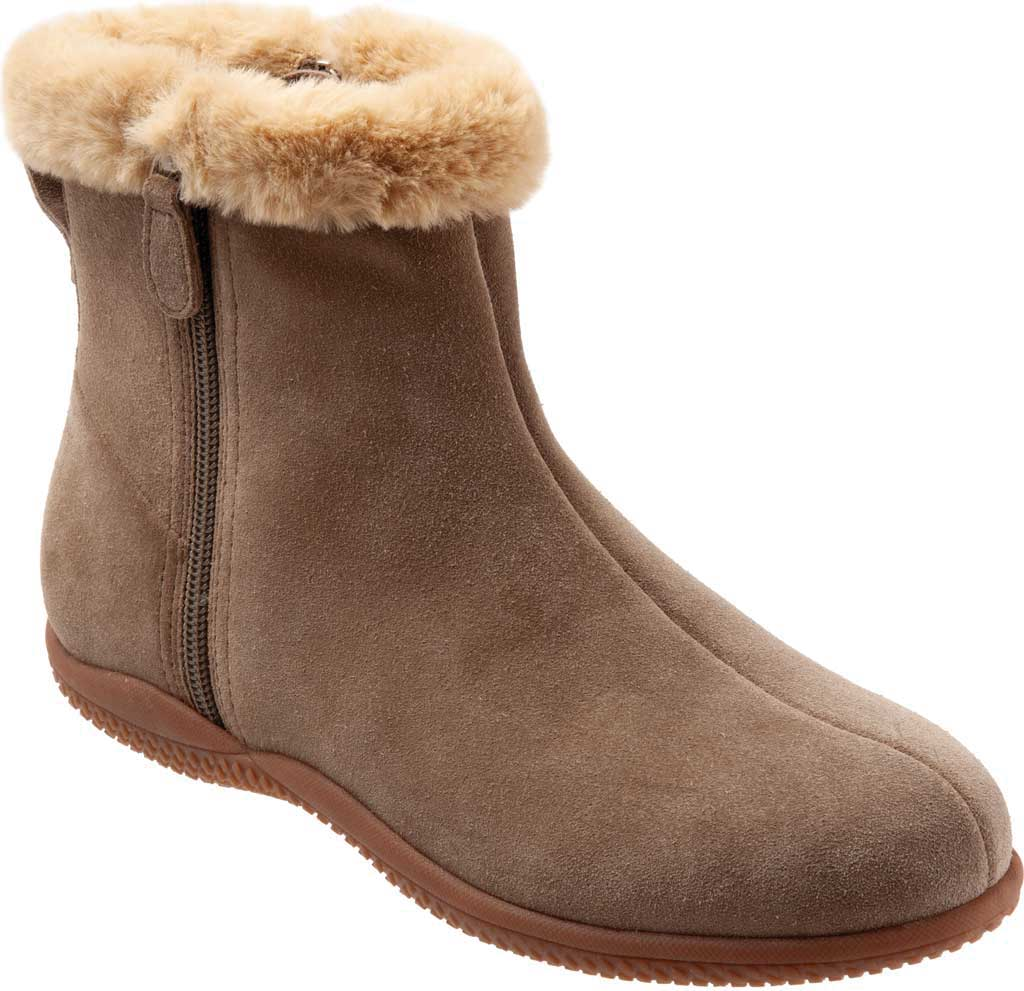 Women's SoftWalk Helena Ankle Boot, Stone Suede, large, image 1