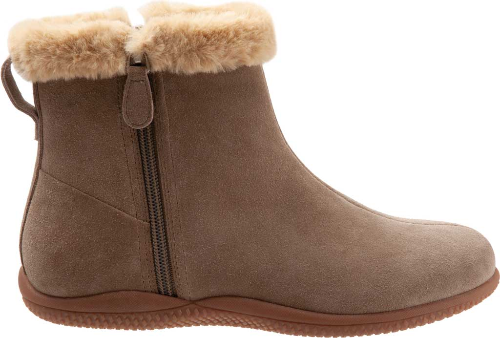 Women's SoftWalk Helena Ankle Boot, Stone Suede, large, image 2