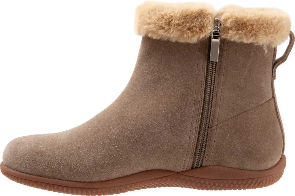 Women's SoftWalk Helena Ankle Boot, Stone Suede, large, image 3