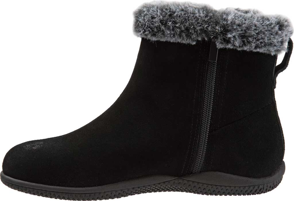 Women's SoftWalk Helena Ankle Boot, Black Suede, large, image 3
