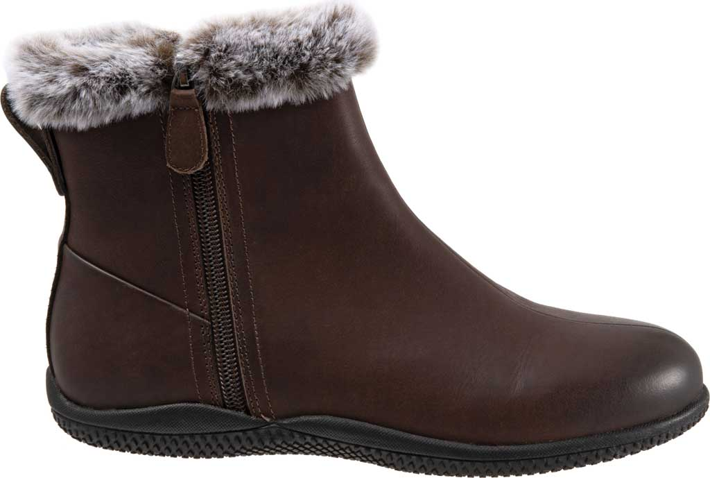 Women's SoftWalk Helena Ankle Boot, Dark Brown Oiled Full Grain, large, image 2