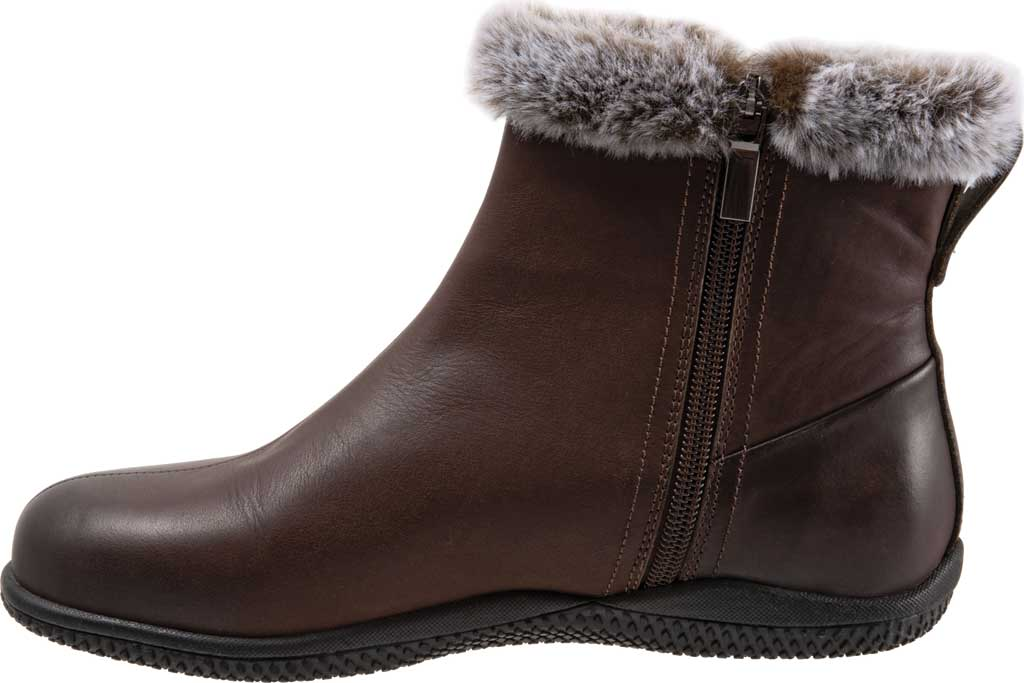 Women's SoftWalk Helena Ankle Boot, Dark Brown Oiled Full Grain, large, image 3