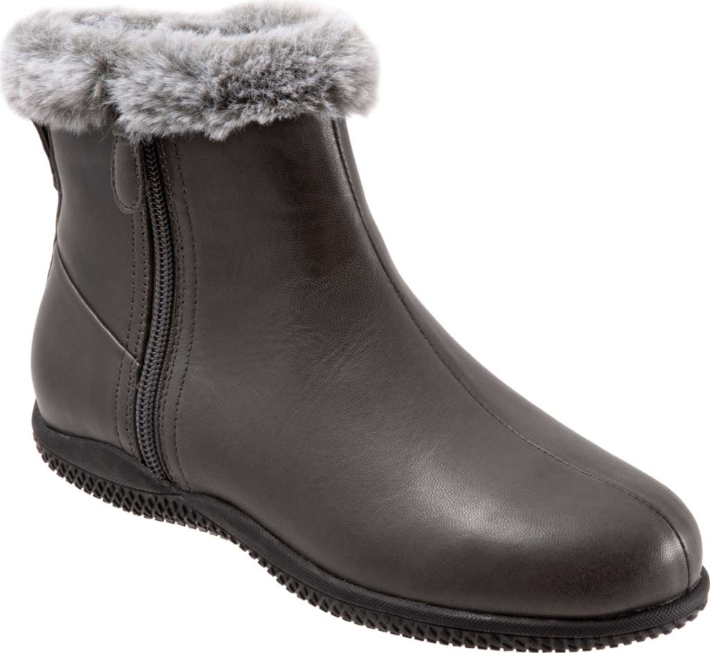 Women's SoftWalk Helena Ankle Boot, Dark Grey Burnished Soft Nappa, large, image 1