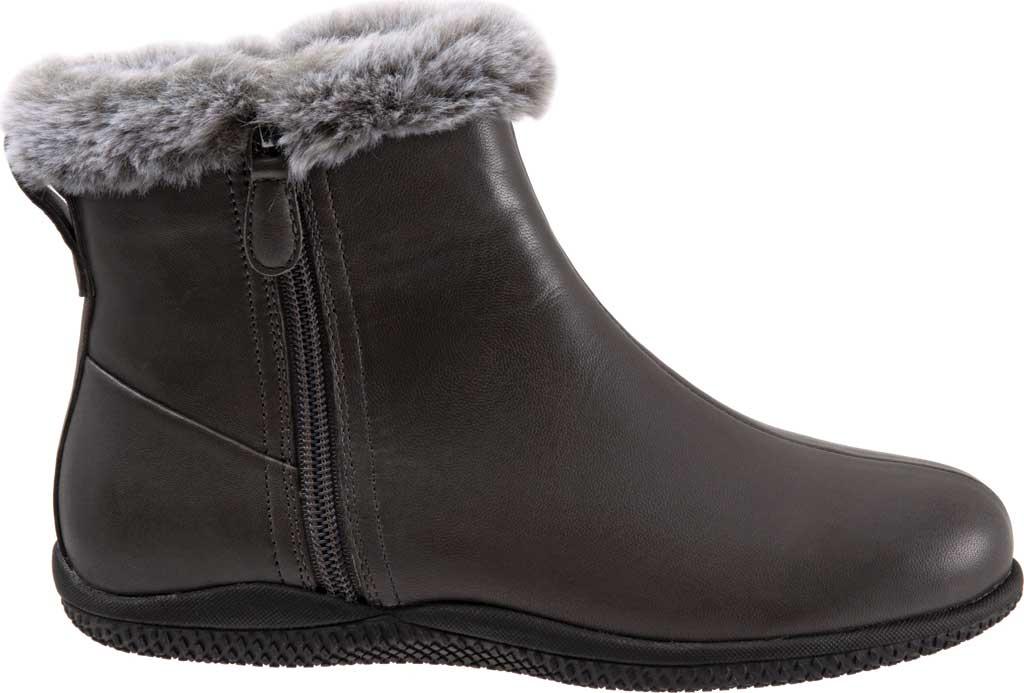 Women's SoftWalk Helena Ankle Boot, Dark Grey Burnished Soft Nappa, large, image 2