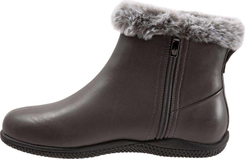Women's SoftWalk Helena Ankle Boot, Dark Grey Burnished Soft Nappa, large, image 3