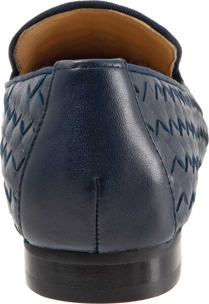 Women's Trotters Gracie Woven Smoking Flat, Navy Leather, large, image 4