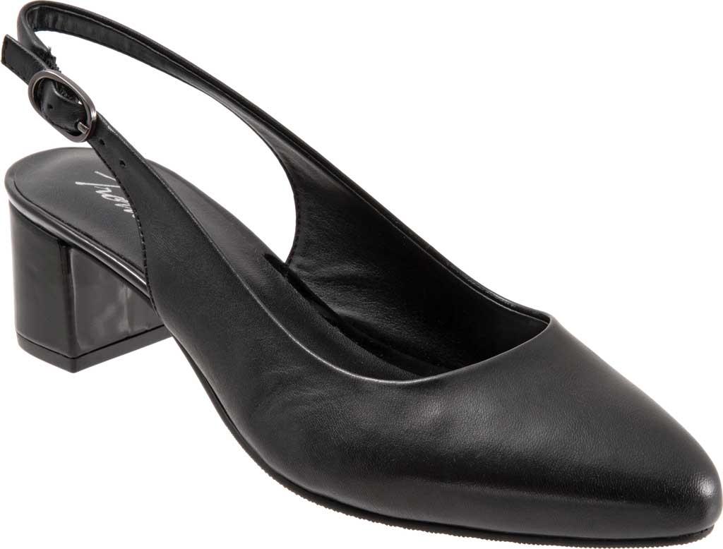 Women's Trotters Kay Slingback, Black Soft Nappa Leather, large, image 1