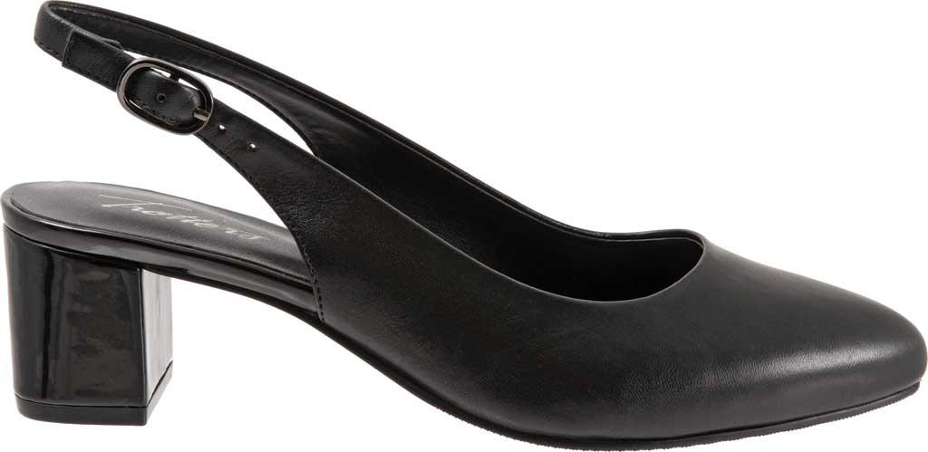 Women's Trotters Kay Slingback, Black Soft Nappa Leather, large, image 2