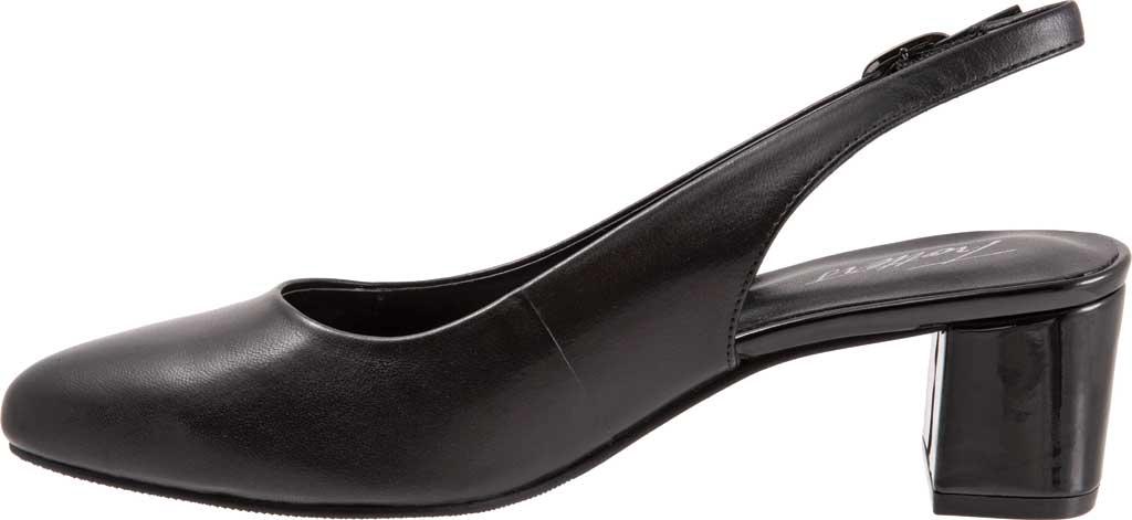 Women's Trotters Kay Slingback, Black Soft Nappa Leather, large, image 3