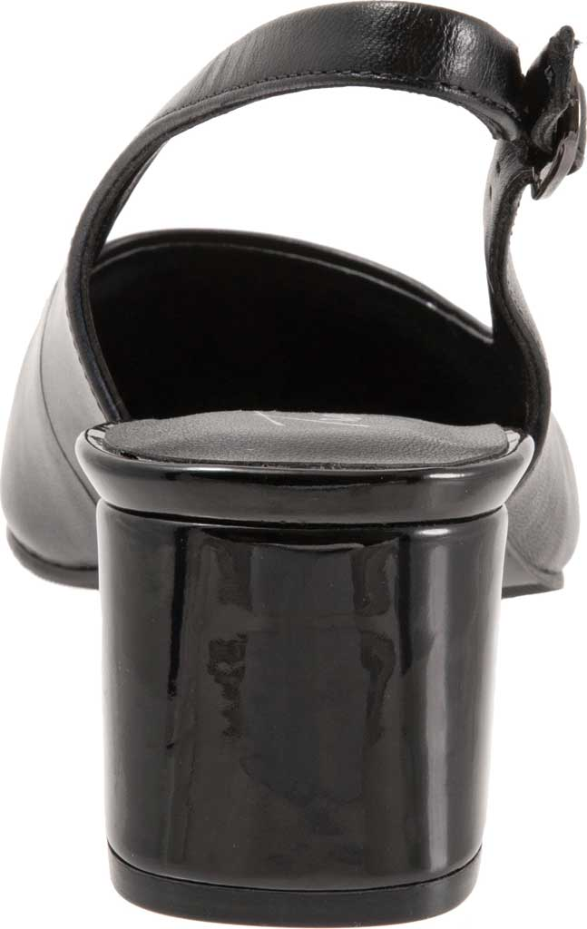 Women's Trotters Kay Slingback, Black Soft Nappa Leather, large, image 4
