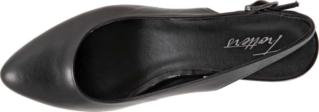 Women's Trotters Kay Slingback, Black Soft Nappa Leather, large, image 5