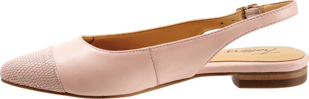 Women's Trotters Halsey Slingback, Light Pink Sheep Soft Leather/Lizard Embossed, large, image 3