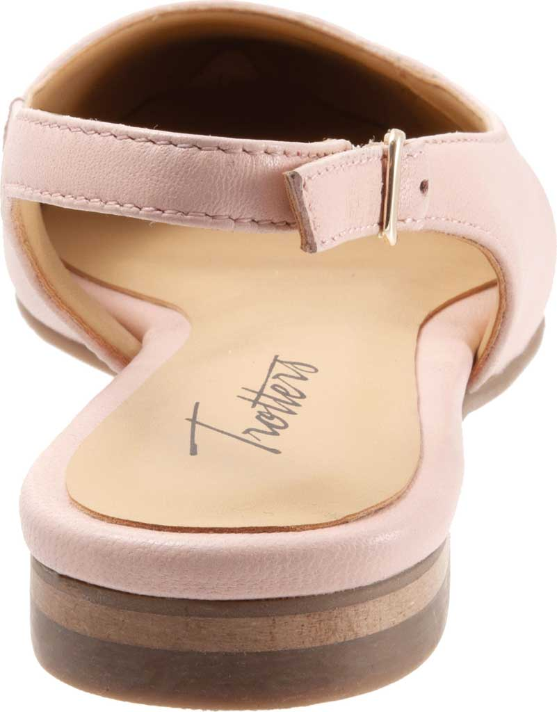 Women's Trotters Halsey Slingback, Light Pink Sheep Soft Leather/Lizard Embossed, large, image 4