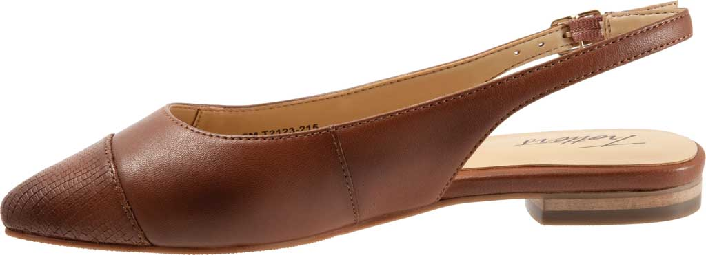 Women's Trotters Halsey Slingback, Luggage Sheep Soft Leather/Lizard Embossed, large, image 3