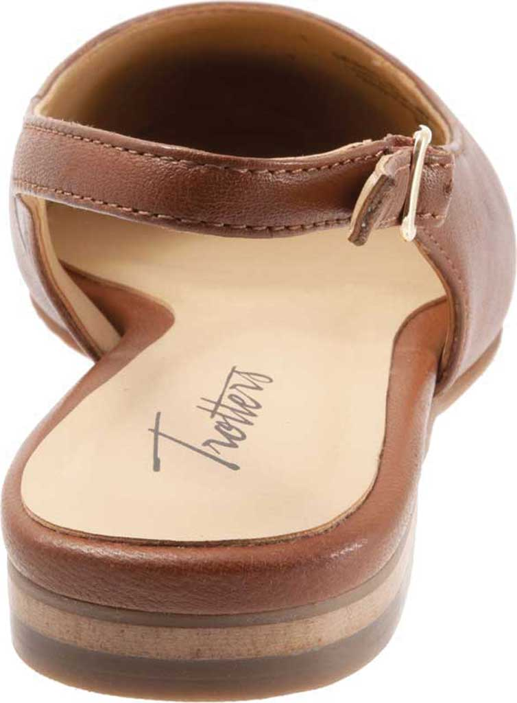 Women's Trotters Halsey Slingback, Luggage Sheep Soft Leather/Lizard Embossed, large, image 4