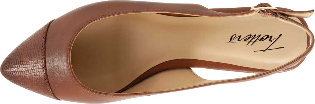 Women's Trotters Halsey Slingback, Luggage Sheep Soft Leather/Lizard Embossed, large, image 5