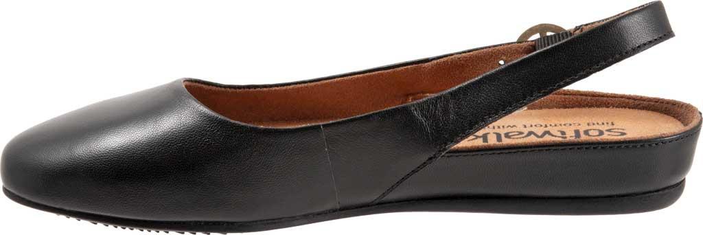 Women's SoftWalk Sandy Slingback, Black Leather, large, image 3
