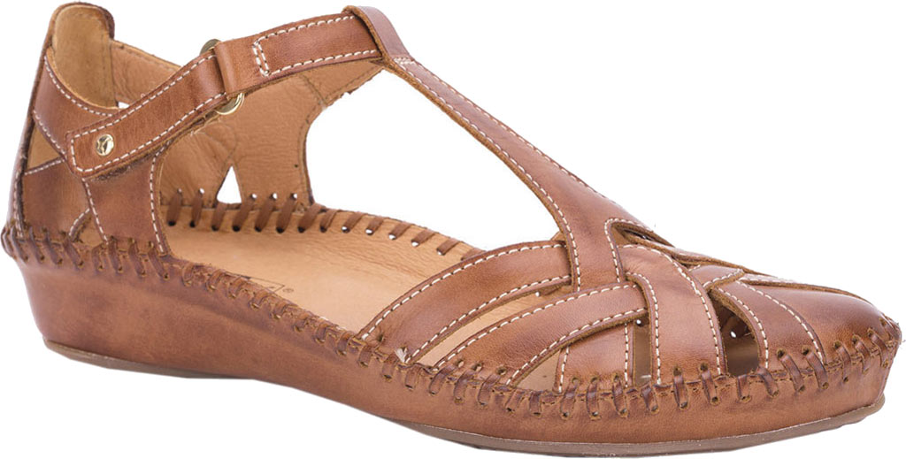 Women's Pikolinos Puerto Vallarta Closed Toe Sandal 655-0732, Brandy Leather, large, image 1