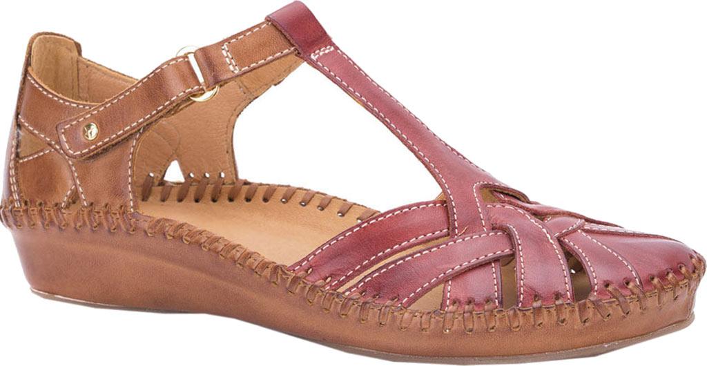 Women's Pikolinos Puerto Vallarta Closed Toe Sandal 655-0732, Sandia/Brandy Leather, large, image 1