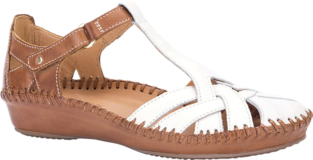 Women's Pikolinos Puerto Vallarta Closed Toe Sandal 655-0732, Nata/Brandy Leather, large, image 1