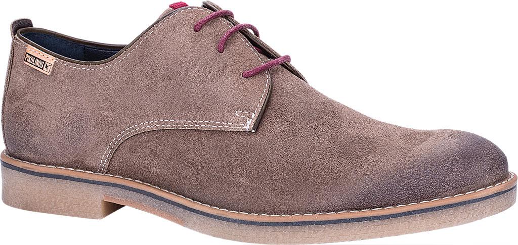 Men's Pikolinos Irun Derby Shoe M0E-4244SO, Taupe Suede, large, image 1