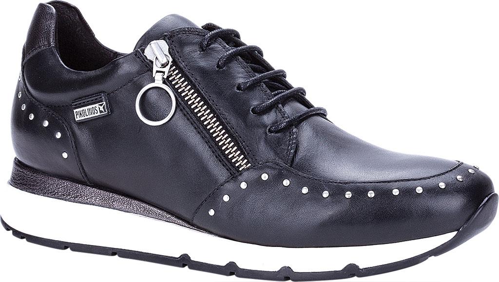Women's Pikolinos Mundaka Sneaker W0J-6750, Black Leather, large, image 1