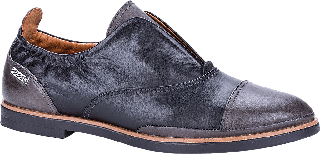 Women's Pikolinos Santorini Slip-On W3V-4765C1, Black Leather, large, image 1