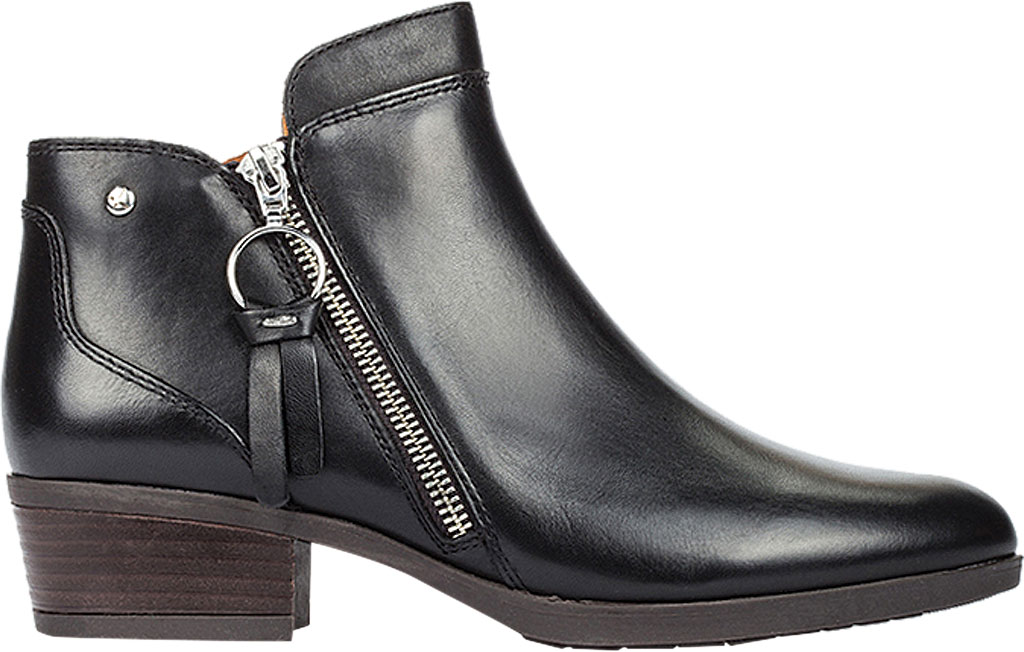 Women's Pikolinos Daroca Bootie W1U-8590, Black Leather, large, image 2