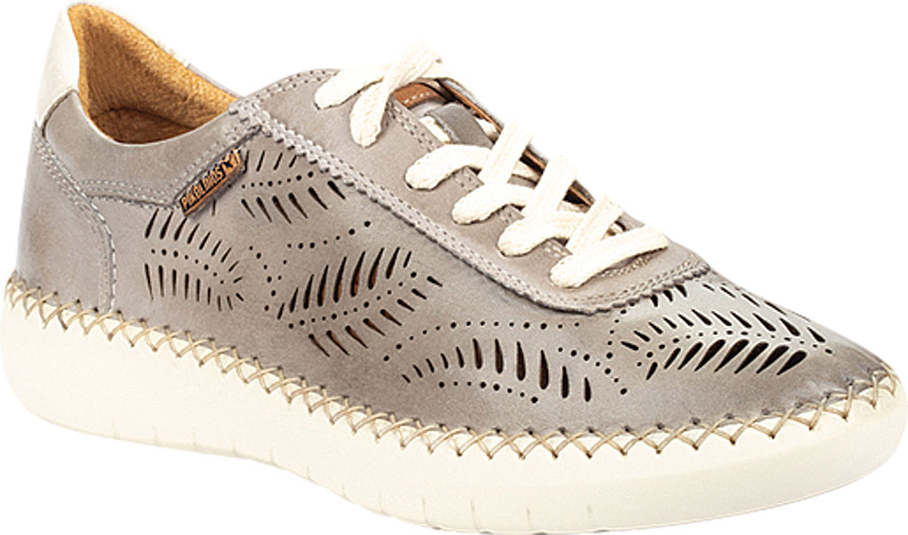 Women's Pikolinos Mesina Hand Sewn Perf Sneaker W0Y-6828, Slate Leather, large, image 1