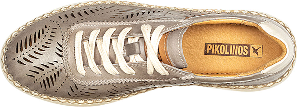 Women's Pikolinos Mesina Hand Sewn Perf Sneaker W0Y-6828, Slate Leather, large, image 4