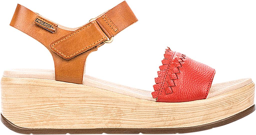 Women's Pikolinos Costacabana Platform Sandal W3X-1747BGC1, Coral Leather, large, image 2