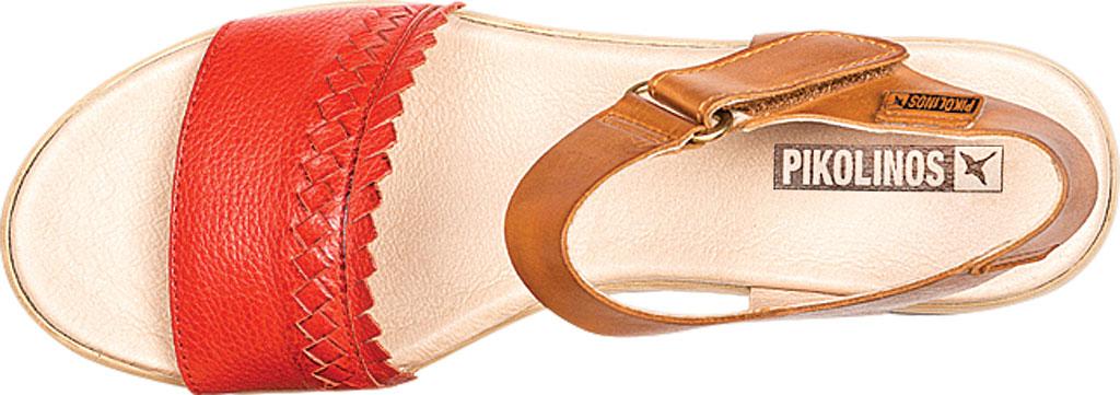 Women's Pikolinos Costacabana Platform Sandal W3X-1747BGC1, Coral Leather, large, image 4