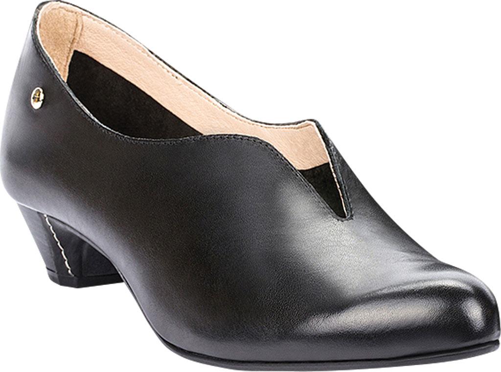 Women's Pikolinos Elba Mid Heel Pump W4B-1716, Black Leather, large, image 1