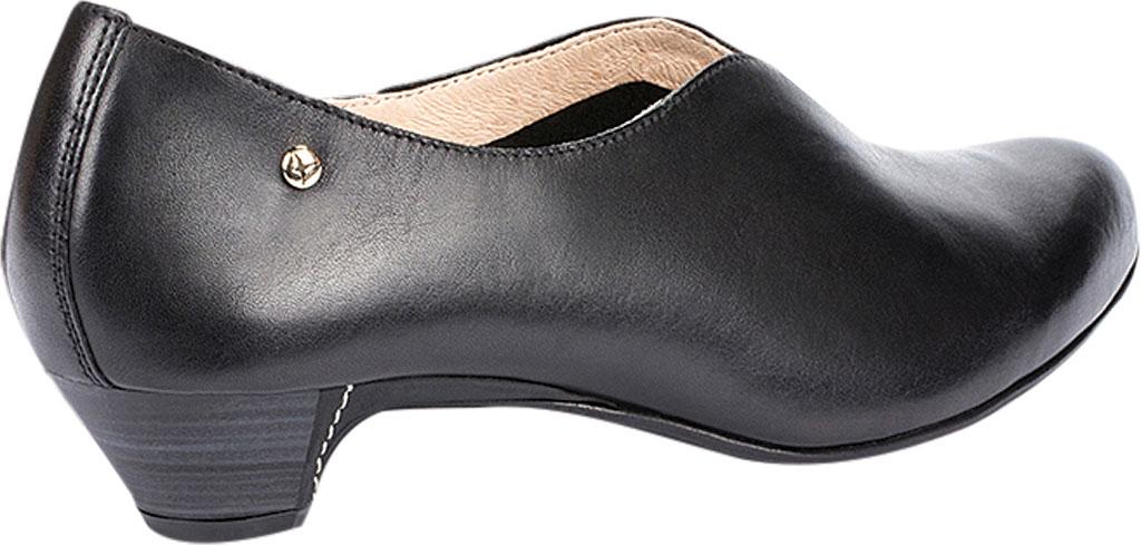 Women's Pikolinos Elba Mid Heel Pump W4B-1716, Black Leather, large, image 3