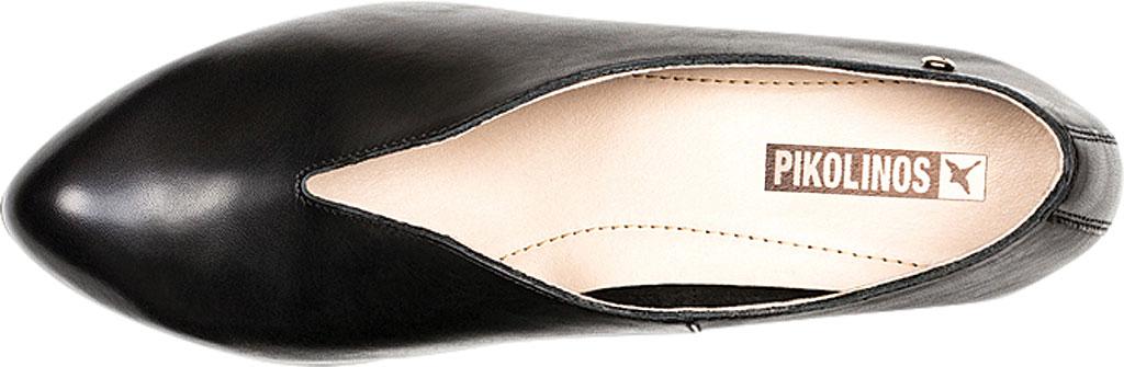 Women's Pikolinos Elba Mid Heel Pump W4B-1716, Black Leather, large, image 4