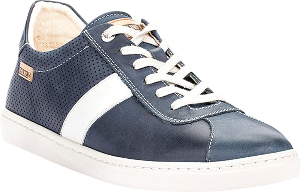 Men's Pikolinos Belfort Sneaker M8K-6250KN, Blue Leather, large, image 1