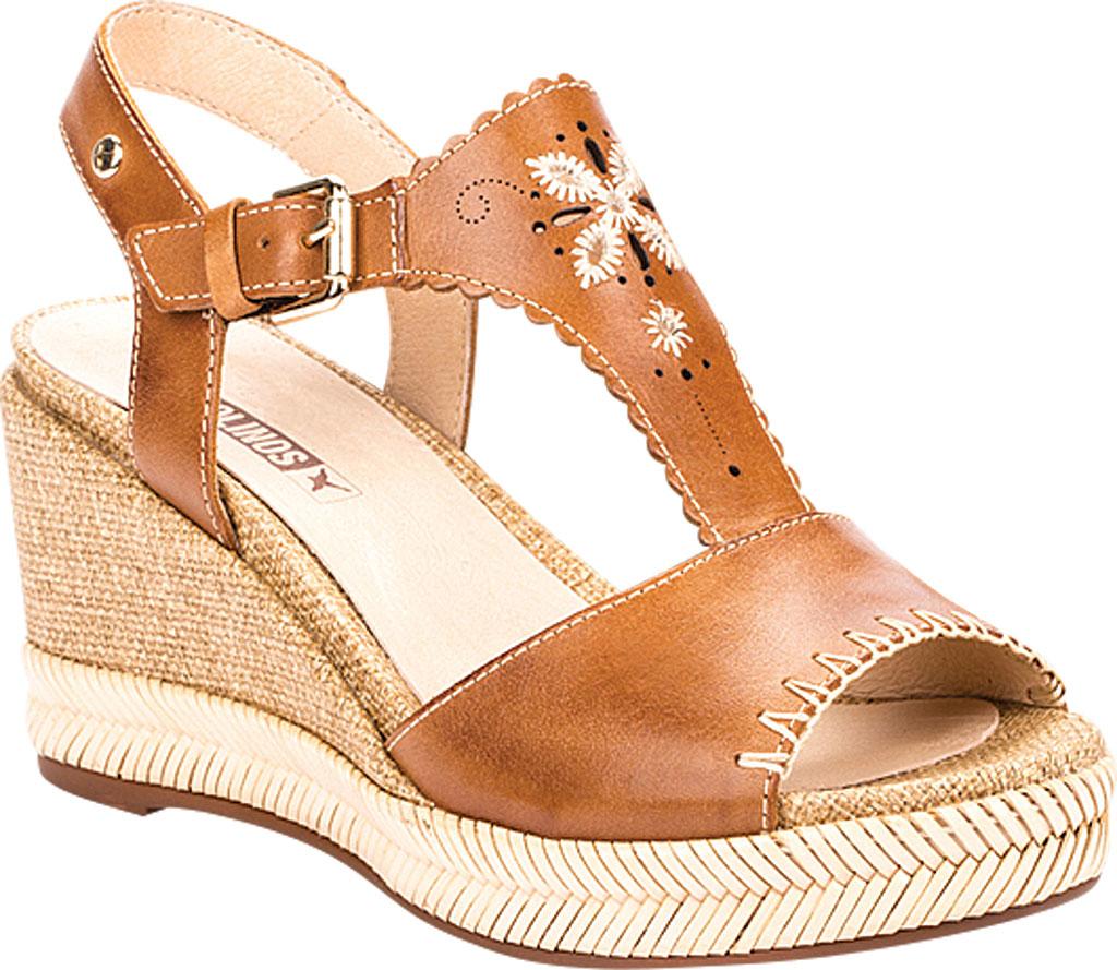 Women's Pikolinos Mojacar Wedge Sandal W7R-1711, Brandy Leather, large, image 1