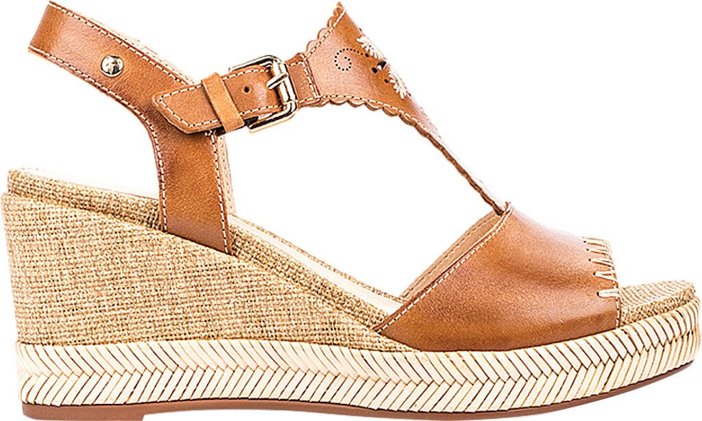 Women's Pikolinos Mojacar Wedge Sandal W7R-1711, Brandy Leather, large, image 2