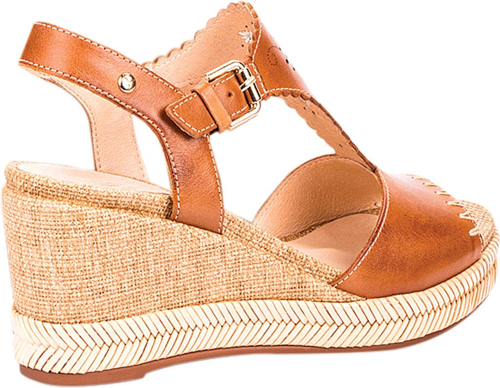 Women's Pikolinos Mojacar Wedge Sandal W7R-1711, Brandy Leather, large, image 3