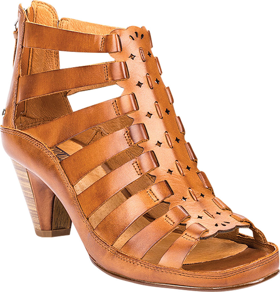 Women's Pikolinos Java Caged Sandal W5A-1701, Brandy Leather, large, image 1