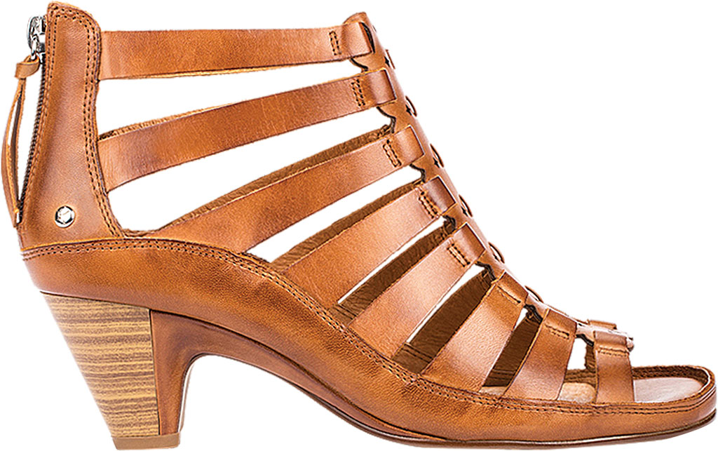 Women's Pikolinos Java Caged Sandal W5A-1701, Brandy Leather, large, image 2