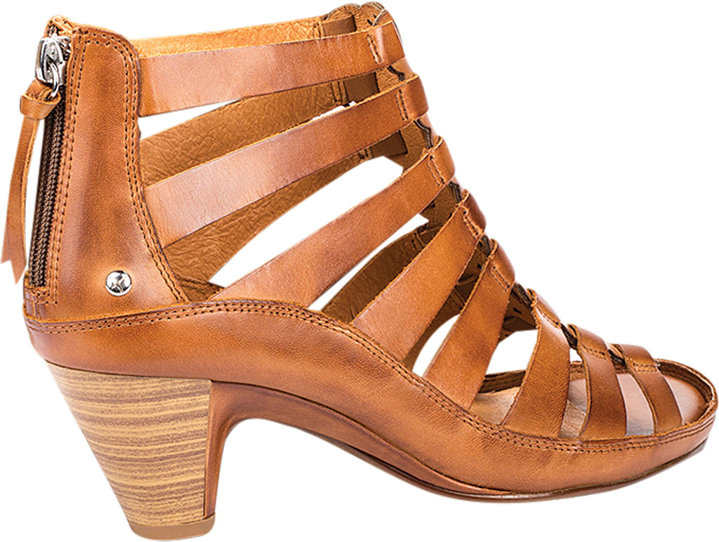 Women's Pikolinos Java Caged Sandal W5A-1701, Brandy Leather, large, image 3