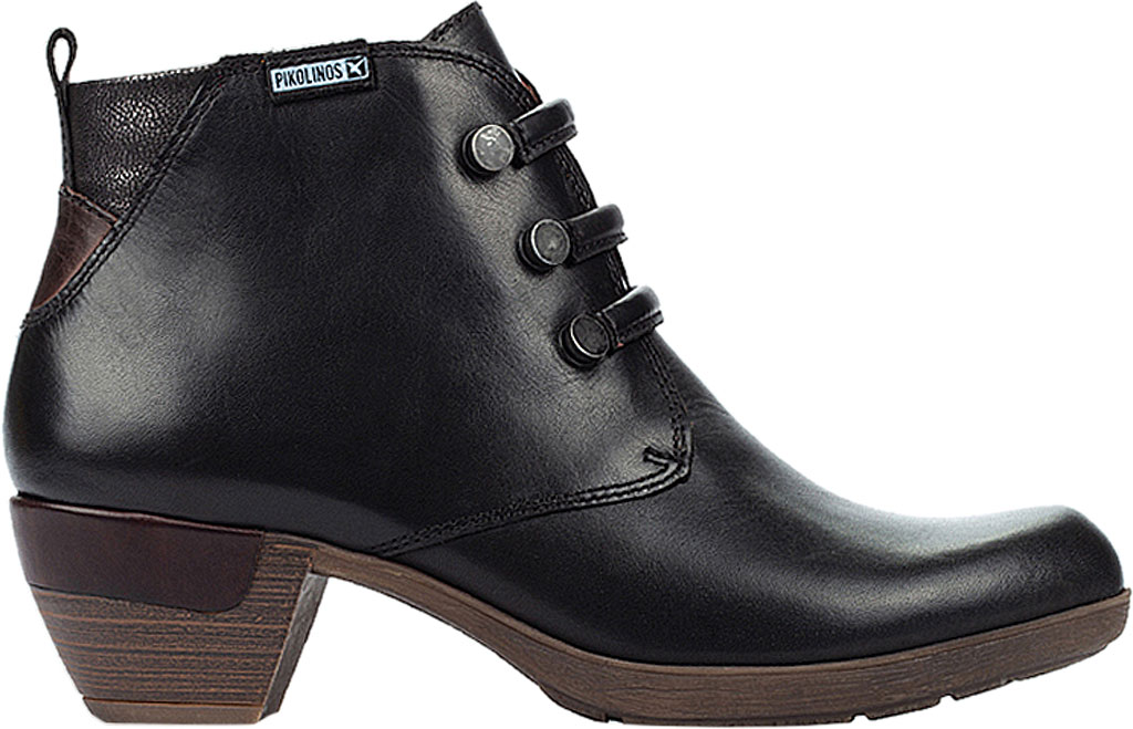 Women's Pikolinos Rotterdam Ankle Bootie 902-8746, Black Calfskin Leather, large, image 2