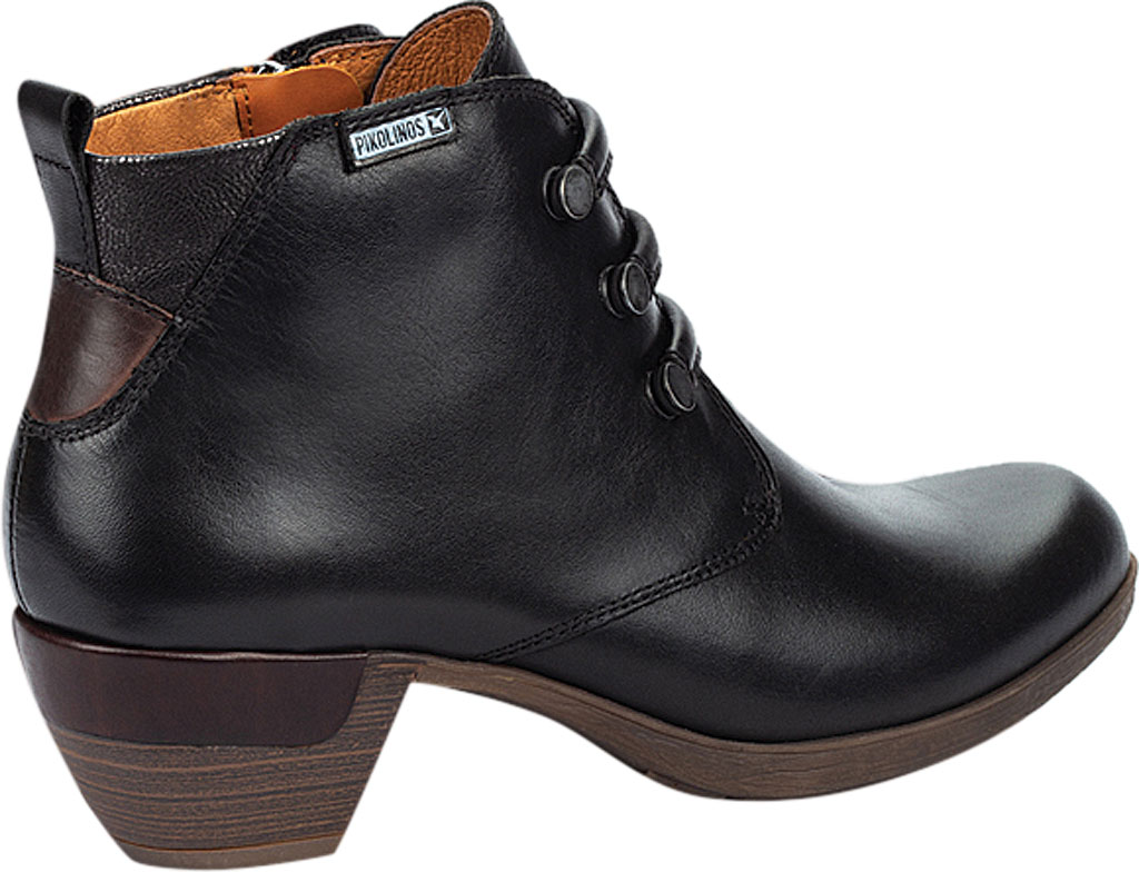 Women's Pikolinos Rotterdam Ankle Bootie 902-8746, Black Calfskin Leather, large, image 3