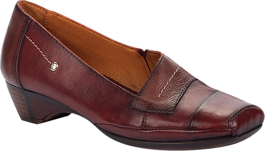 Women's Pikolinos Gandia Heeled Loafer 849-5926, Arcilla Calfskin Leather, large, image 1
