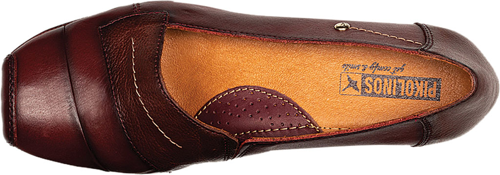 Women's Pikolinos Gandia Heeled Loafer 849-5926, Arcilla Calfskin Leather, large, image 4