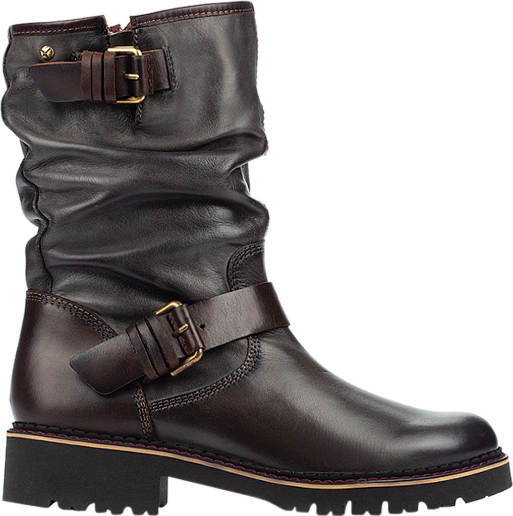 Women's Pikolinos Vicar Mid Calf Slouch Boot W0V-9666, Lead Calfskin Leather, large, image 2