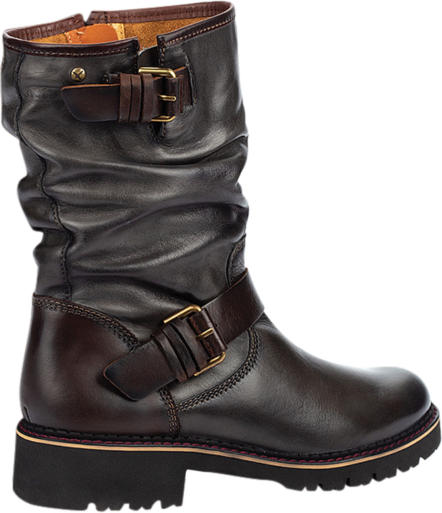 Women's Pikolinos Vicar Mid Calf Slouch Boot W0V-9666, Lead Calfskin Leather, large, image 3